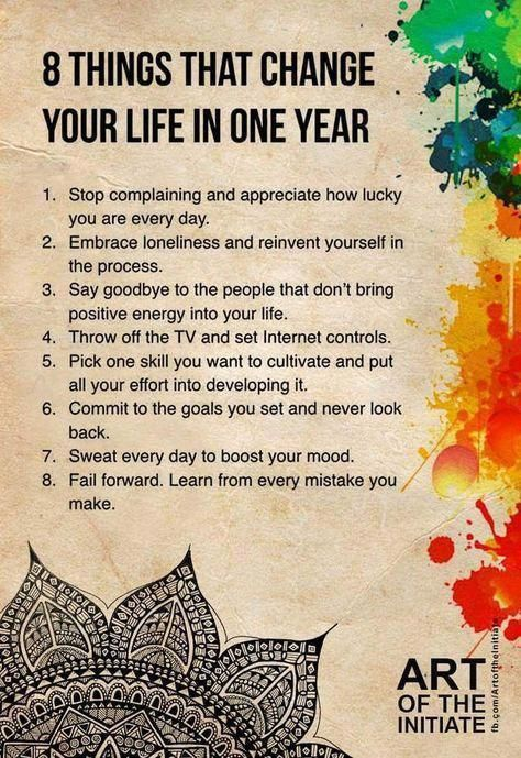 8 Things That Change Your Life in One Year