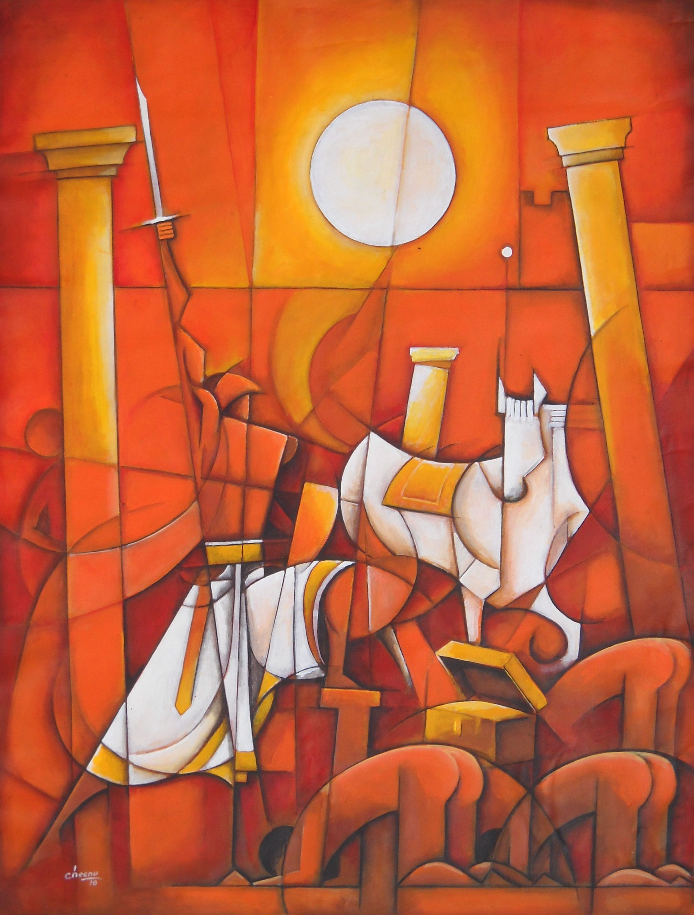 . span style  display none  chennai artist painter contemporary indian