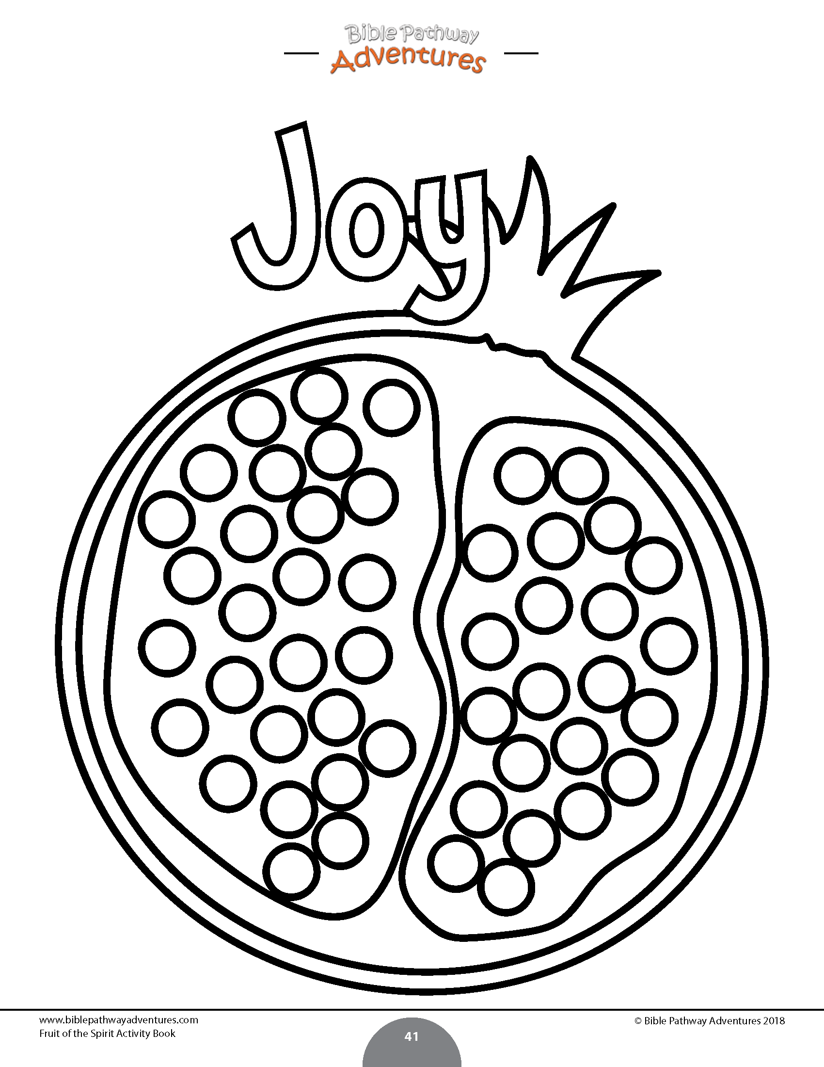 Fruit Of The Spirit Coloring Activity Book