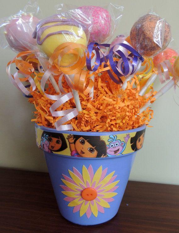 Dora the Explorer Cake Pop Bouquet #cakepopbouquet