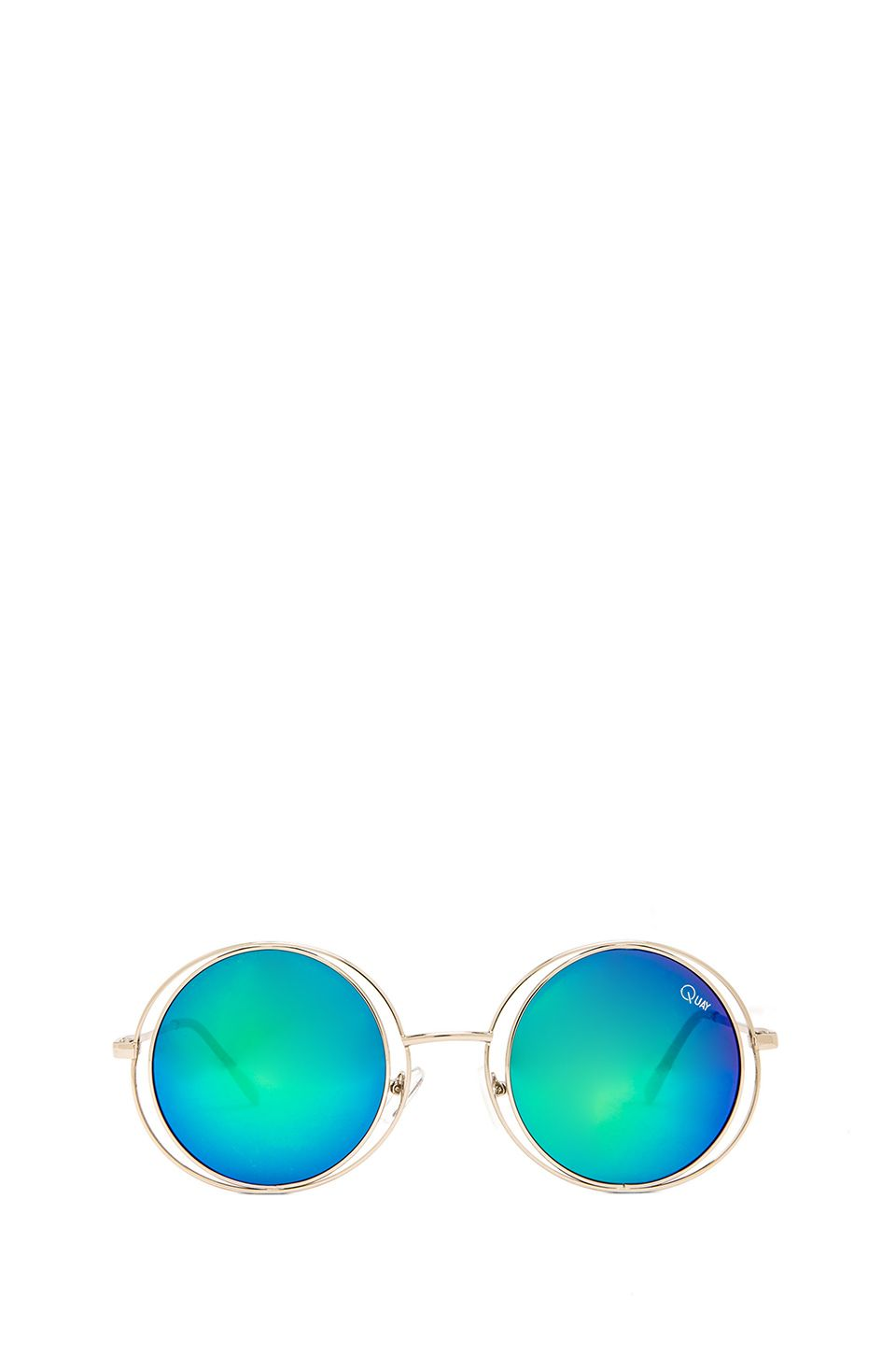 Quay Cherish Sunglasses in Silver Green (With images