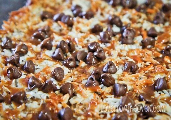 Photo of Seven Layer Magic Cookie Bar WeekChocolate Caramel Pretzel Seven Layer Bars • Love From The Oven