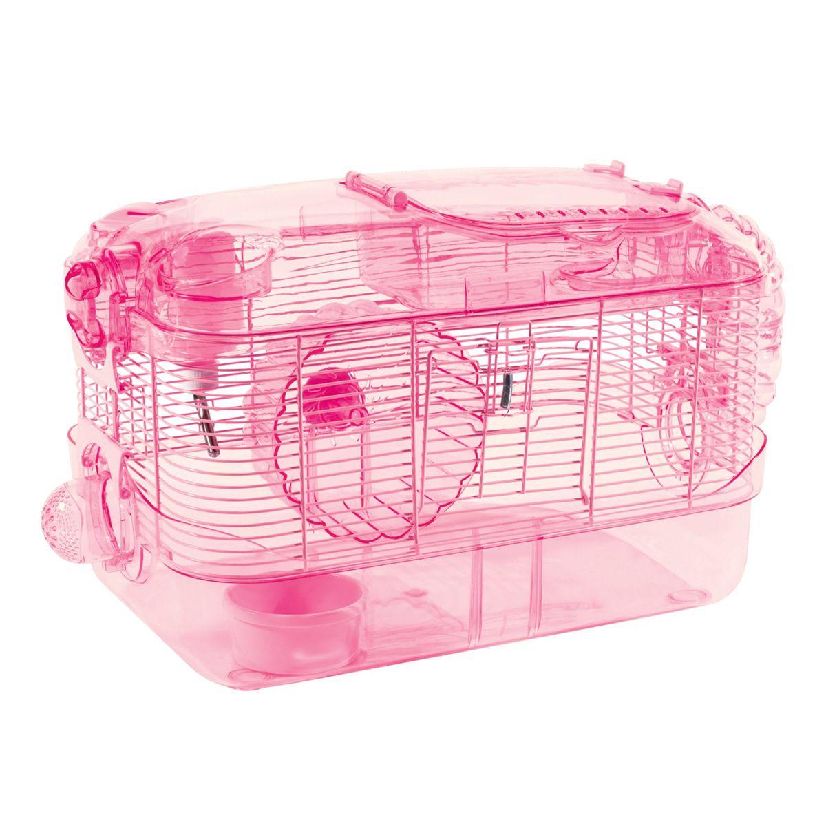 Kaytee Crittertrail One Level Pink Habitat In 2020 Small Pets Habitats Pet Cage