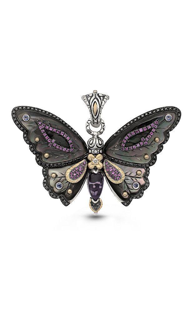 95e229e7161 Zen Garden Butterfly Pendant – Diamond, Black Mother of Pearl, Amethys –  Barbara Bixby