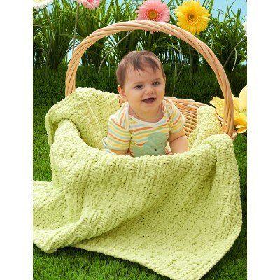 Bernat Baby Blanket Basketweave Baby Blanket | Needle Works | Pinterest