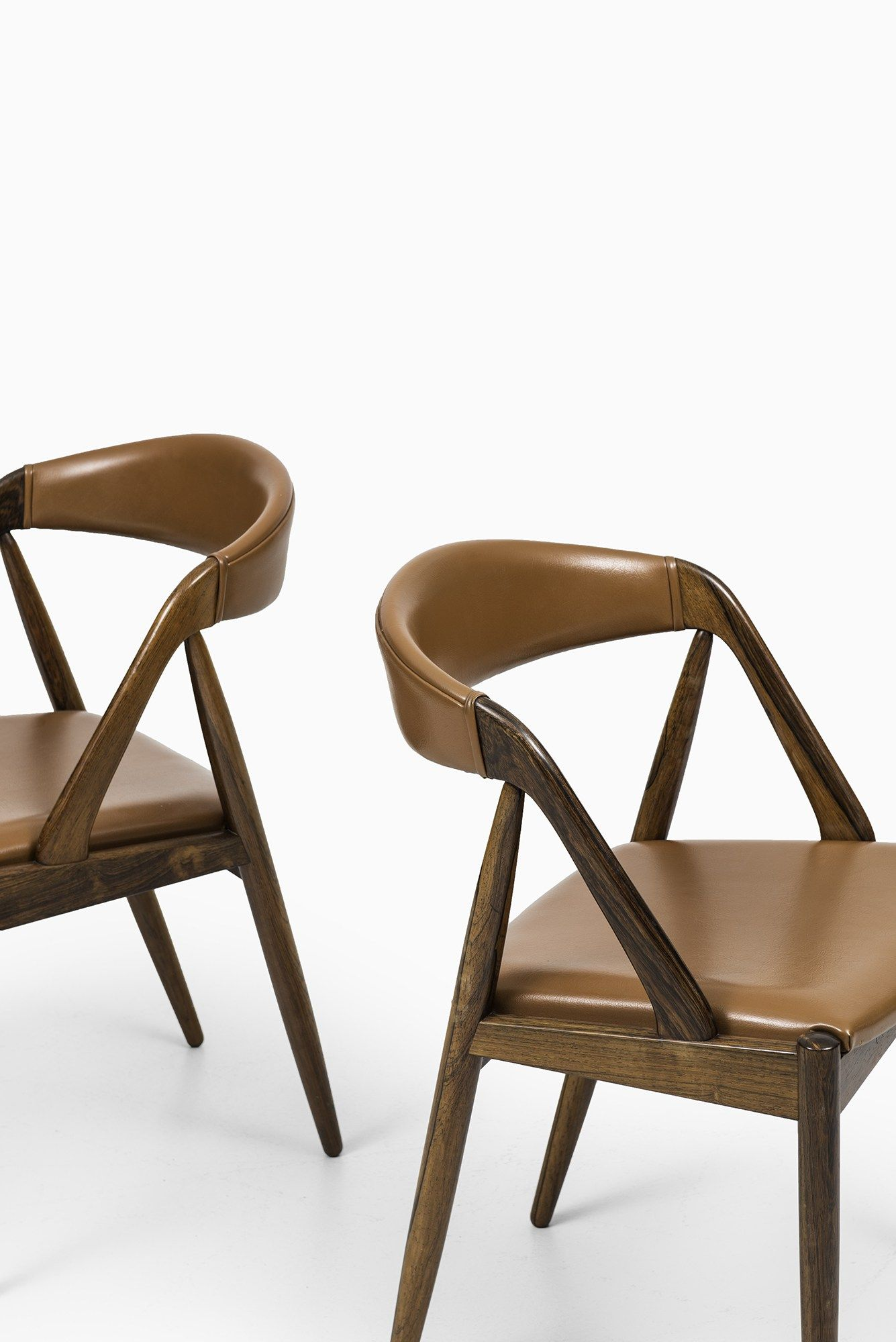 kai kristiansen dining chair in rosewood and leather at studio rh pinterest com