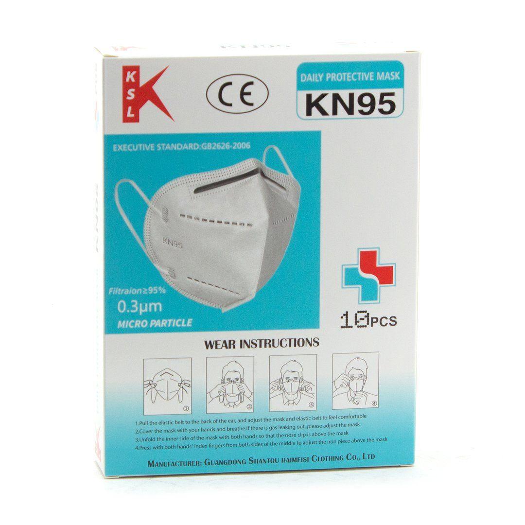 50pcs KN95 Respiratory Face Mask Protective Gear DFW