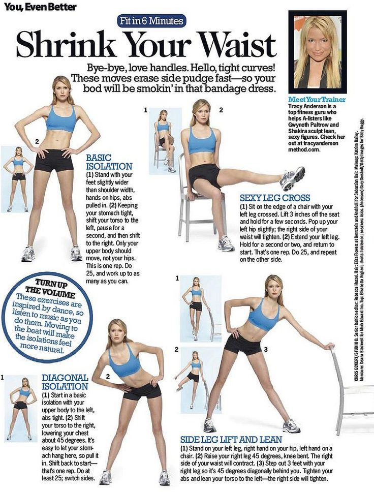 how to get a slim waist very fast