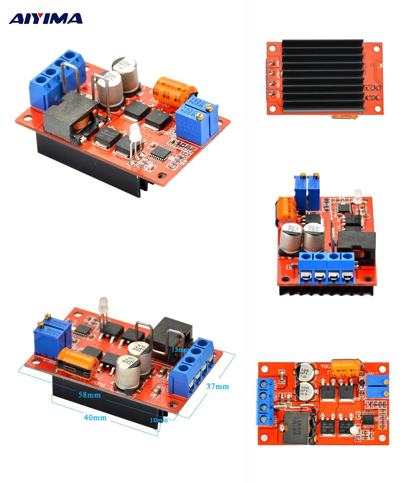 Visit To Buy Aiyima Mppt Solar Panel Regulator Controller Battery 12v 24v Charger Circuit Charging 9v