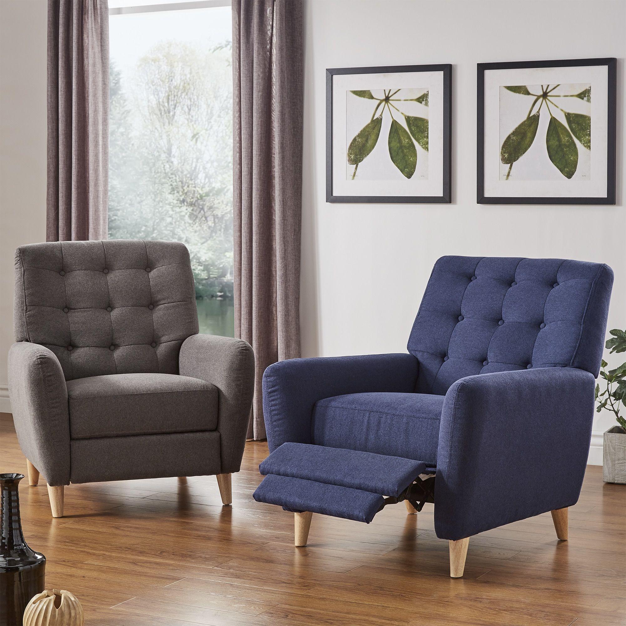 niels danish modern tufted recliner chair by inspire q modern rh pinterest com