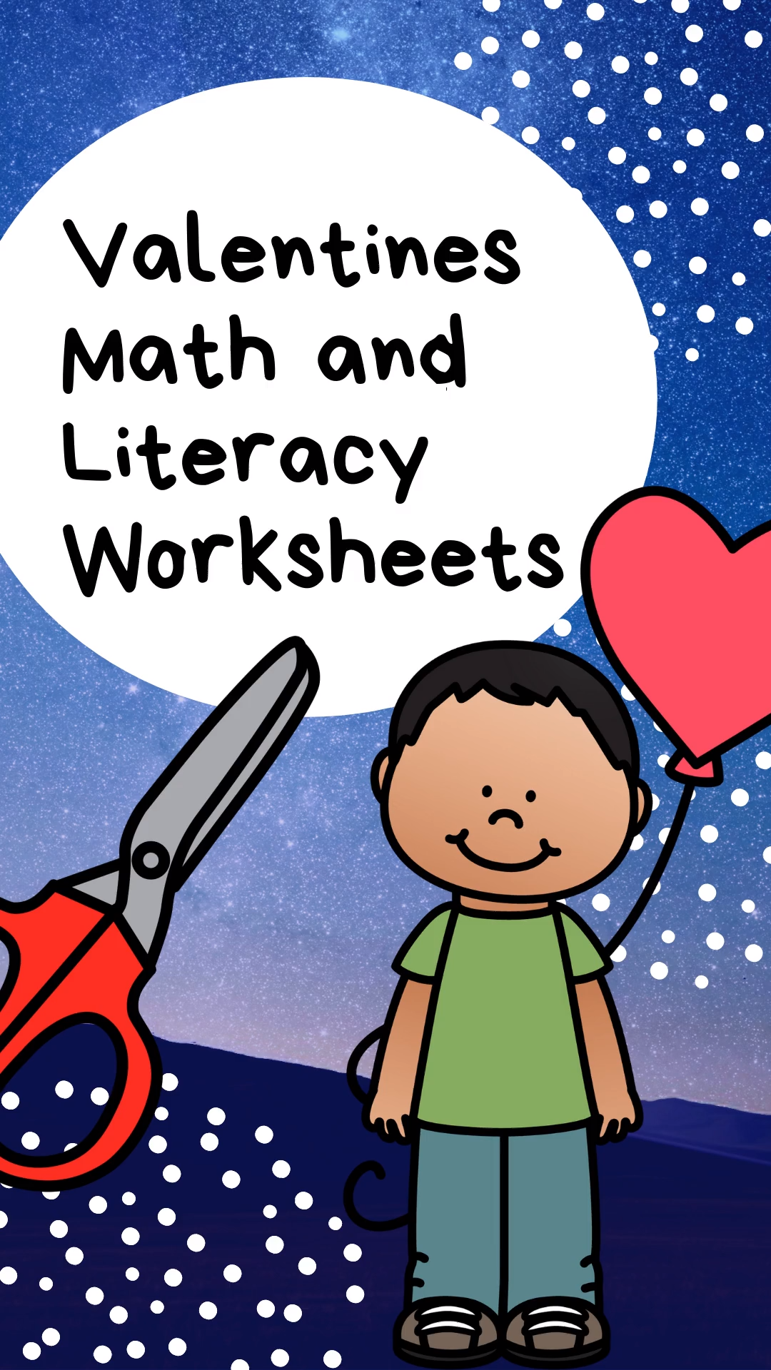 Valentines Math And Literacy Worksheets For Kindergarten