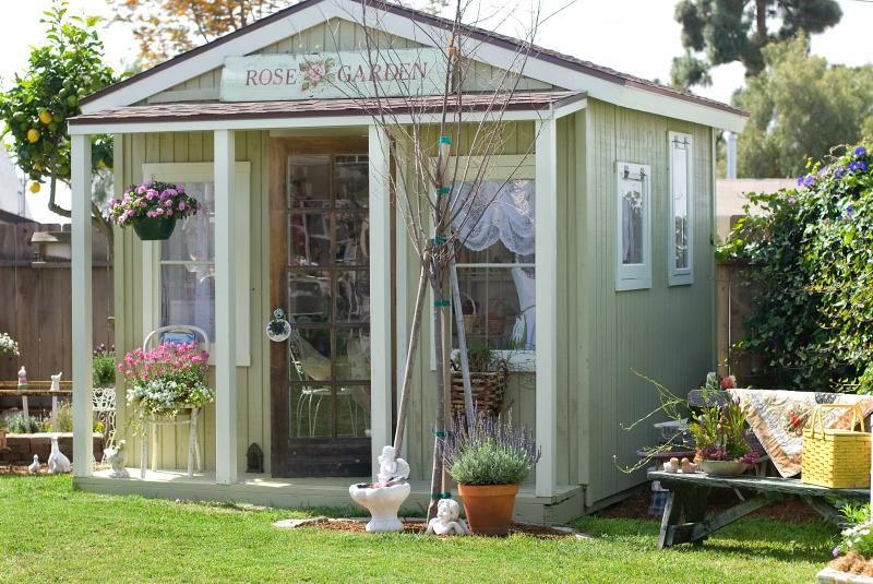Garden sheds are very open and airy this is where your