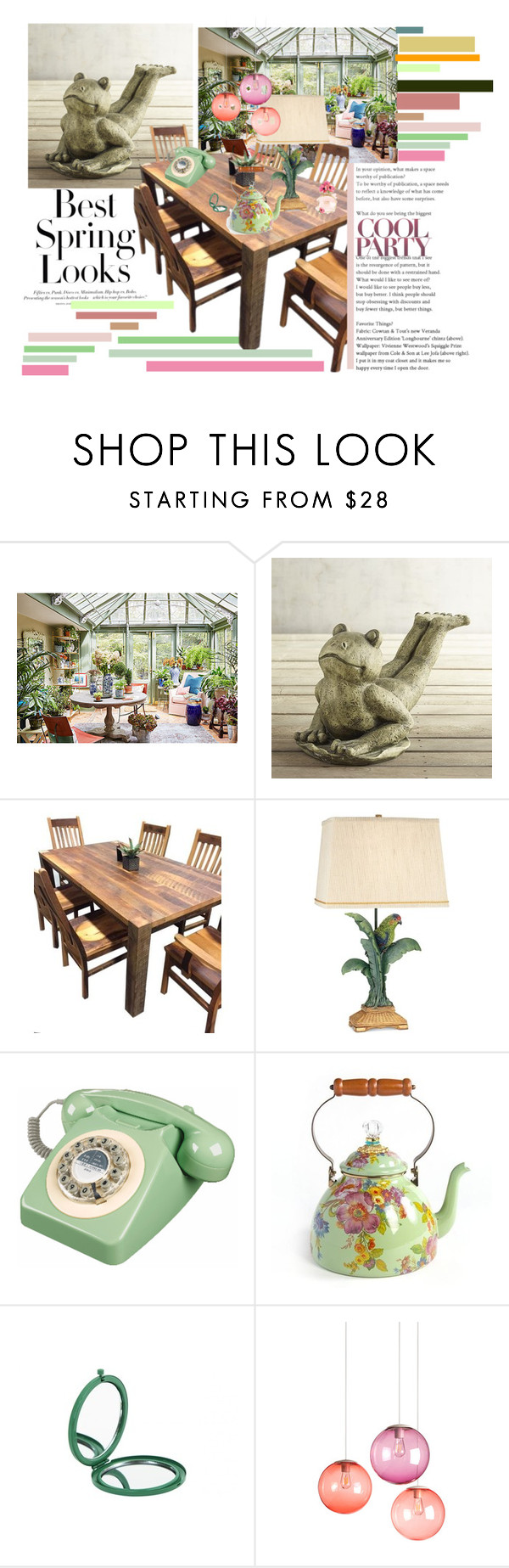 """""""Tea Time"""" by clairabel16 ❤ liked on Polyvore featuring interior, interiors, interior design, home, home decor, interior decorating, H&M, Dana Gibson, Pier 1 Imports and DutchCrafters"""