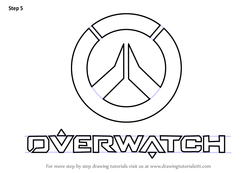 Learn How To Draw Overwatch Logo Overwatch Step By Step Drawing Tutorials Overwatch Drawing Tutorial Drawings