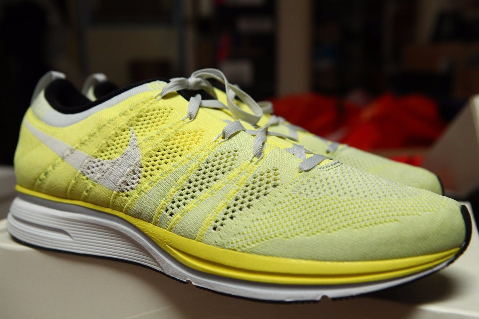 Nike Flyknit Trainer Electric Yellow White 532984 710