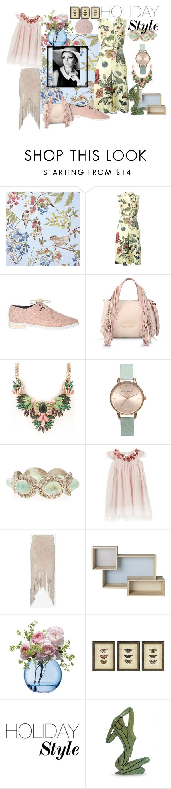 """Holiday"" by spainspecial ❤ liked on Polyvore featuring Nina Campbell, Gucci, TIBI, Alberta Ferretti, Olivia Burton, Armenta, Exclusive for Intermix, Bloomingville, LSA International and NOVICA"