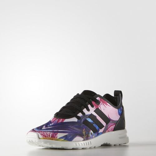 adidas Zebra Print ZX Flux Smooth Shoes - White  729680f84b