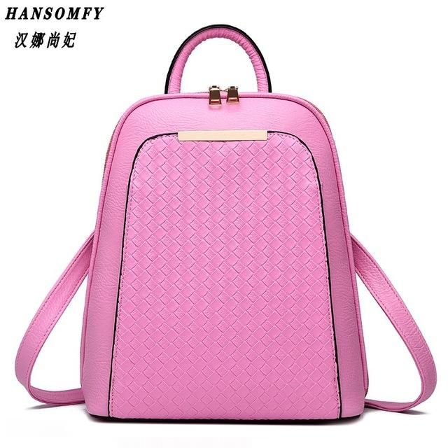 2017 tide female backpack new students fashion casual women s bag PU  leather bag aad3a5992a
