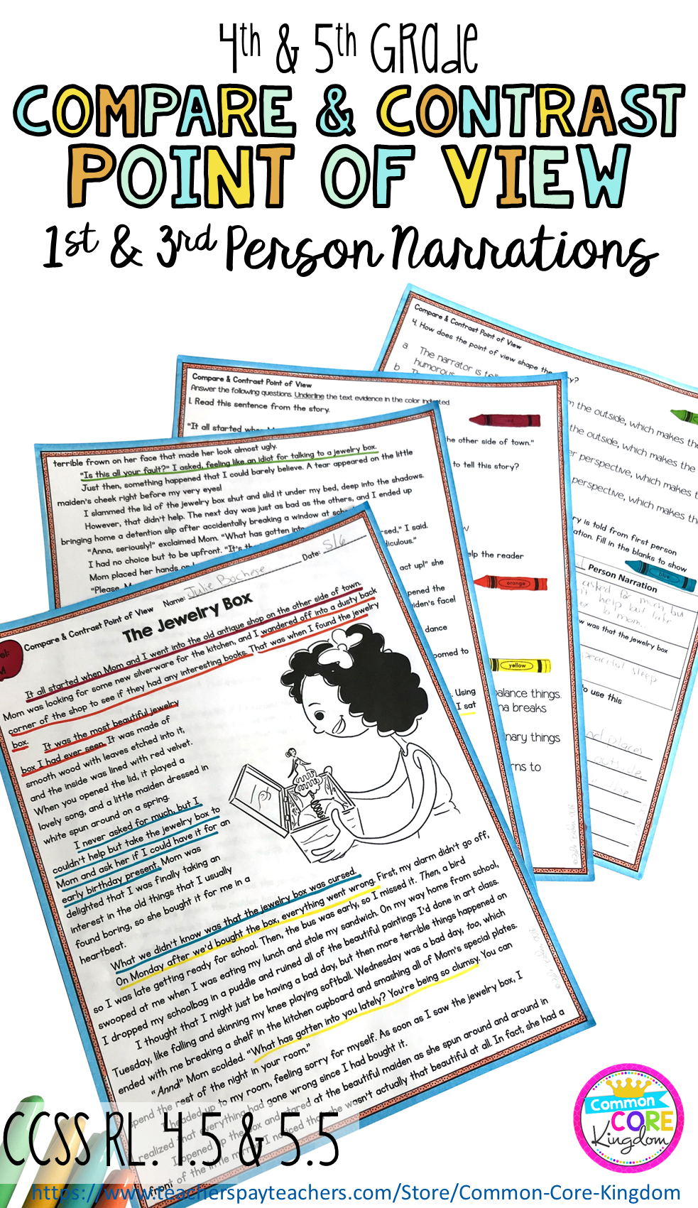 Are you looking for close reading passages to teach your 4th and 5th graders  about first and third…   Reading passages [ 1701 x 983 Pixel ]