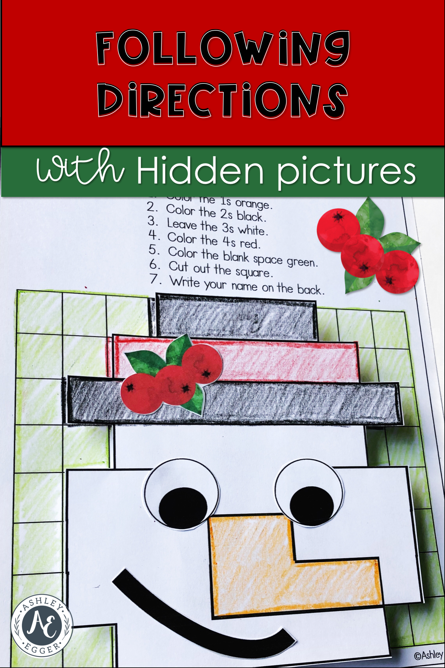 Christmas Hidden Pictures Targeting Following Directions