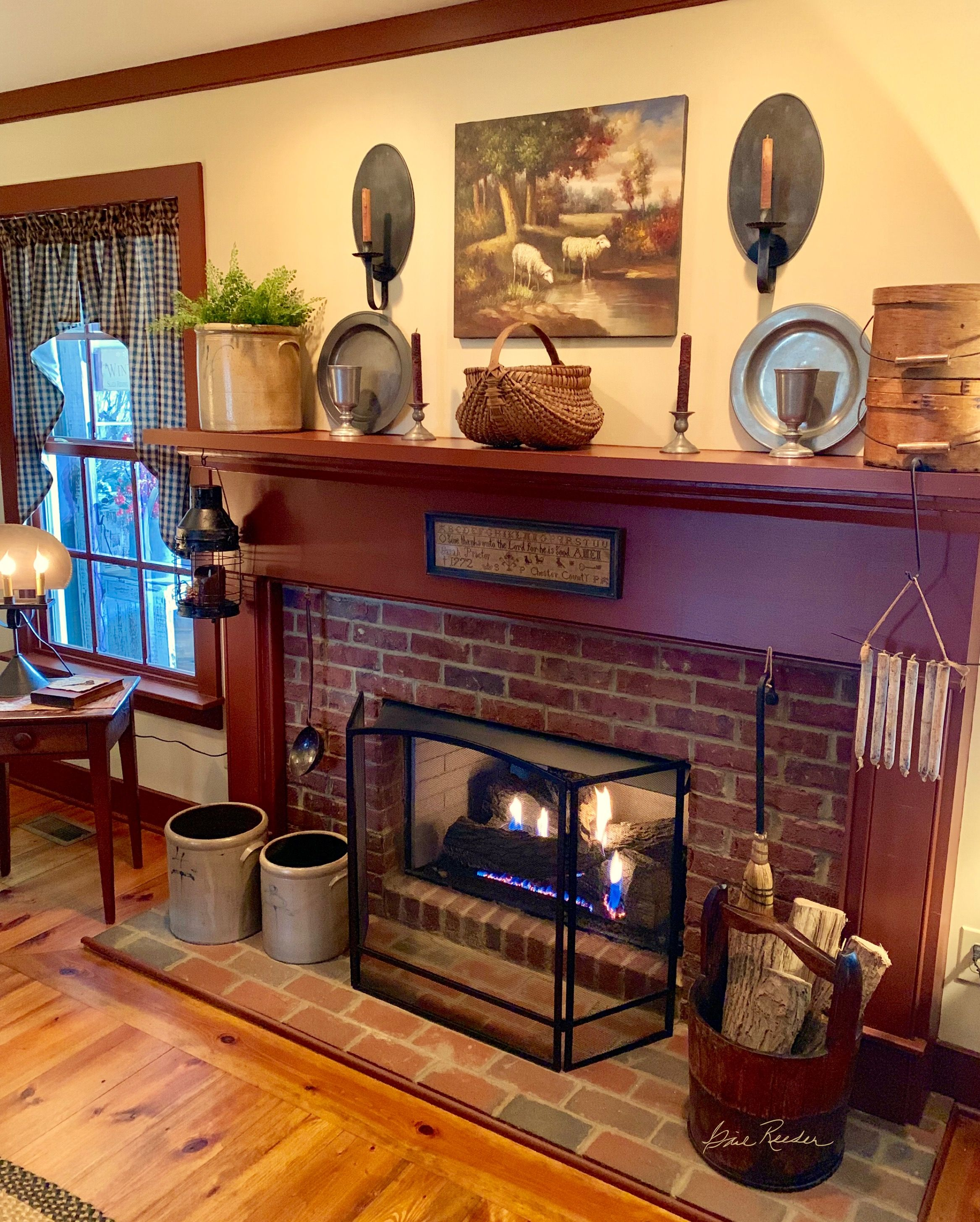 pottery and baskets old school love primative in 2019 home rh pinterest com