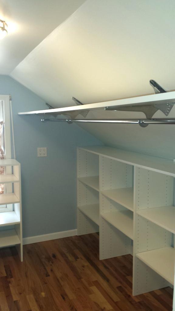 slanted ceiling closet design com designs closet in 2019 attic rh pinterest com