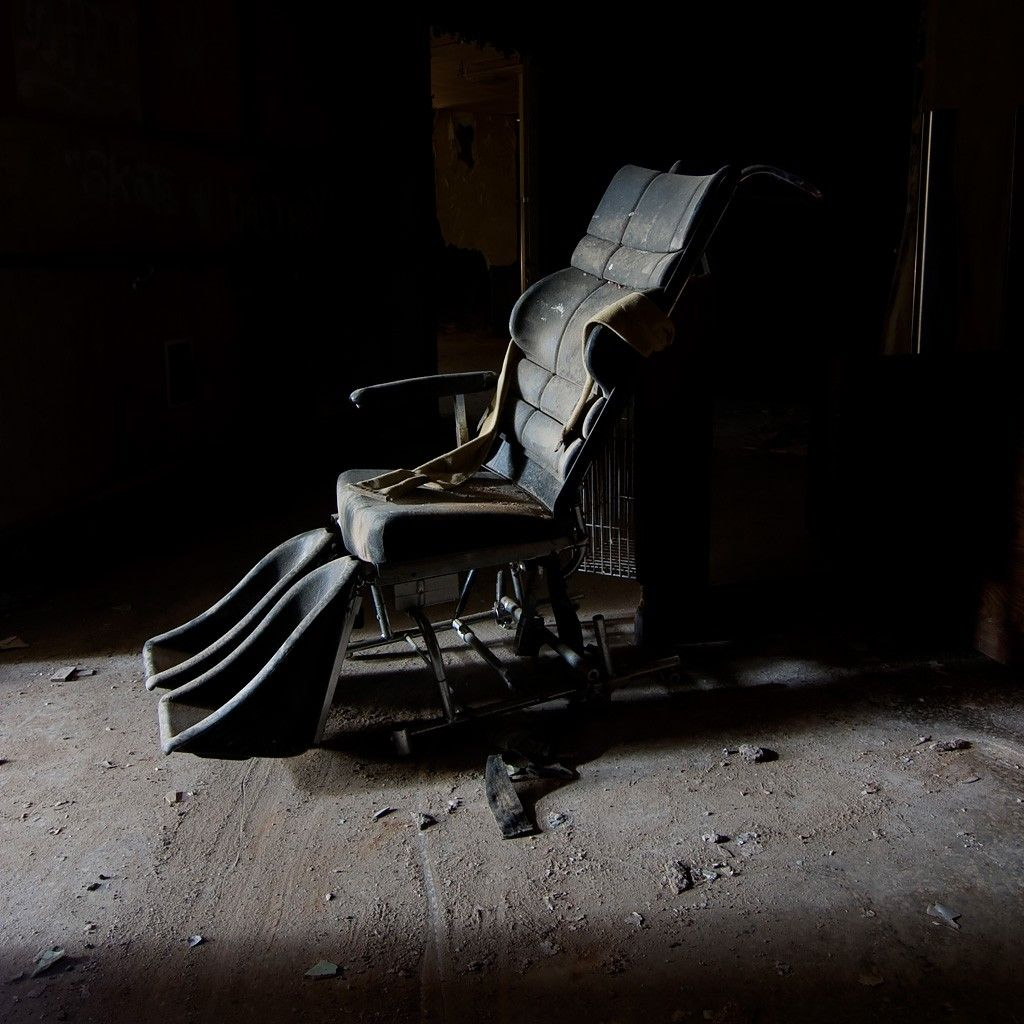 Restraint Chair From The Ladd School, Exeter, Rhode Island