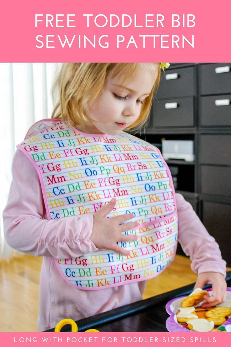 Extra long baby bib free sewing pattern for toddler sized spills diy toddler sized baby bib free sewing pattern longer length for toddlers plus pocket jeuxipadfo Choice Image