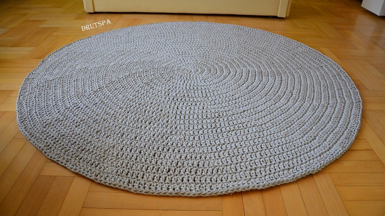 PROMOTION! many colors Round area rug Crochet Nursery Rugs Skandinavische Teppich rund alfombra trapillo modern enfant large floor grey rug by craftladiesshop on Etsy https://www.etsy.com/uk/listing/294266415/promotion-many-colors-round-area-rug