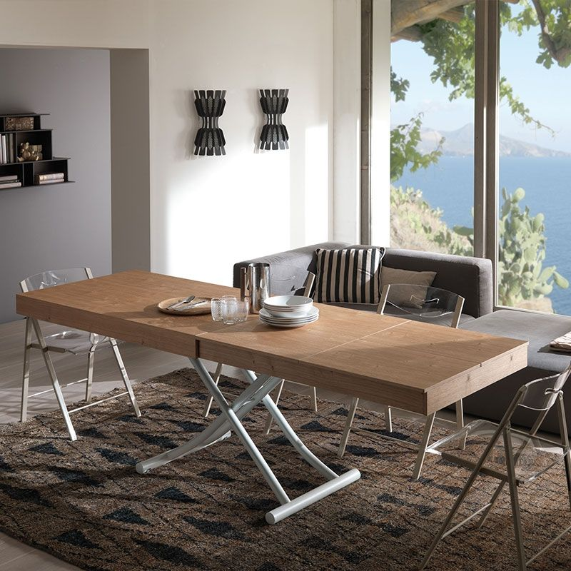 Newood Table By Ozzio Italia This Cool Coffee Features A Gas Lift Mechanism That Raises It To Full Dining Height Stopping At Any Position In