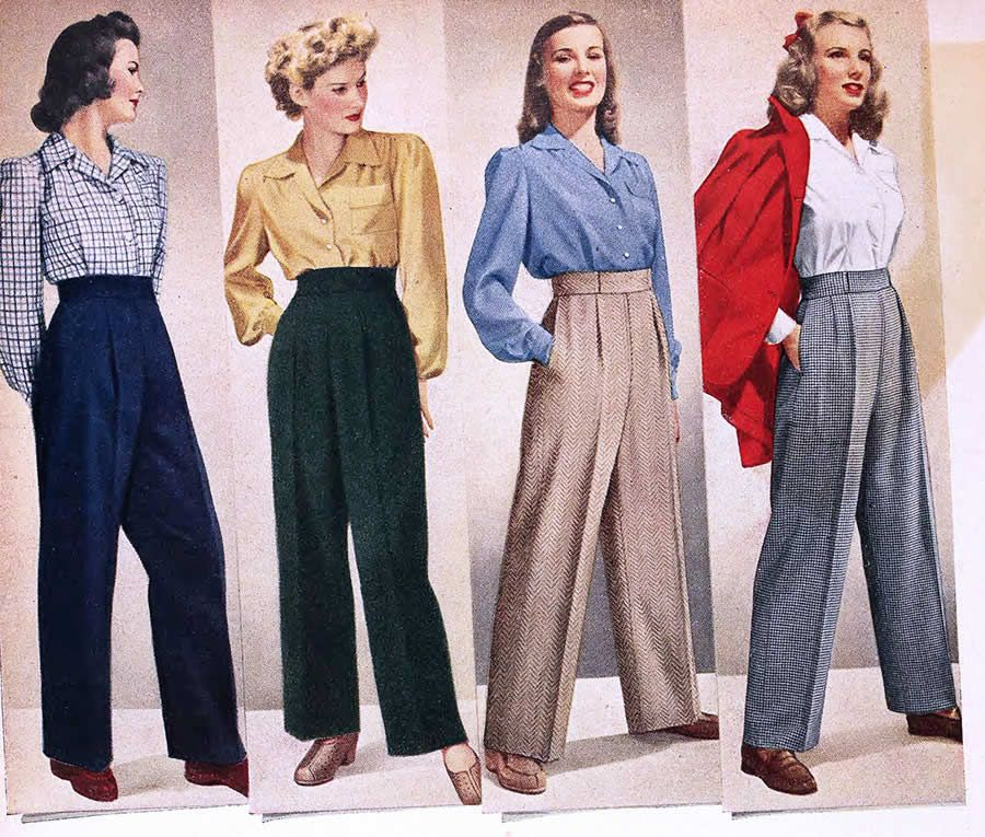 ba9e113f1ba I started collecting WWII era women s fashion and home periodicals because  they re truly the best