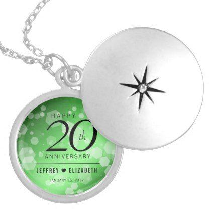 827ccc2a7 Elegant 20th Emerald Wedding Anniversary Locket Necklace | Emerald ...