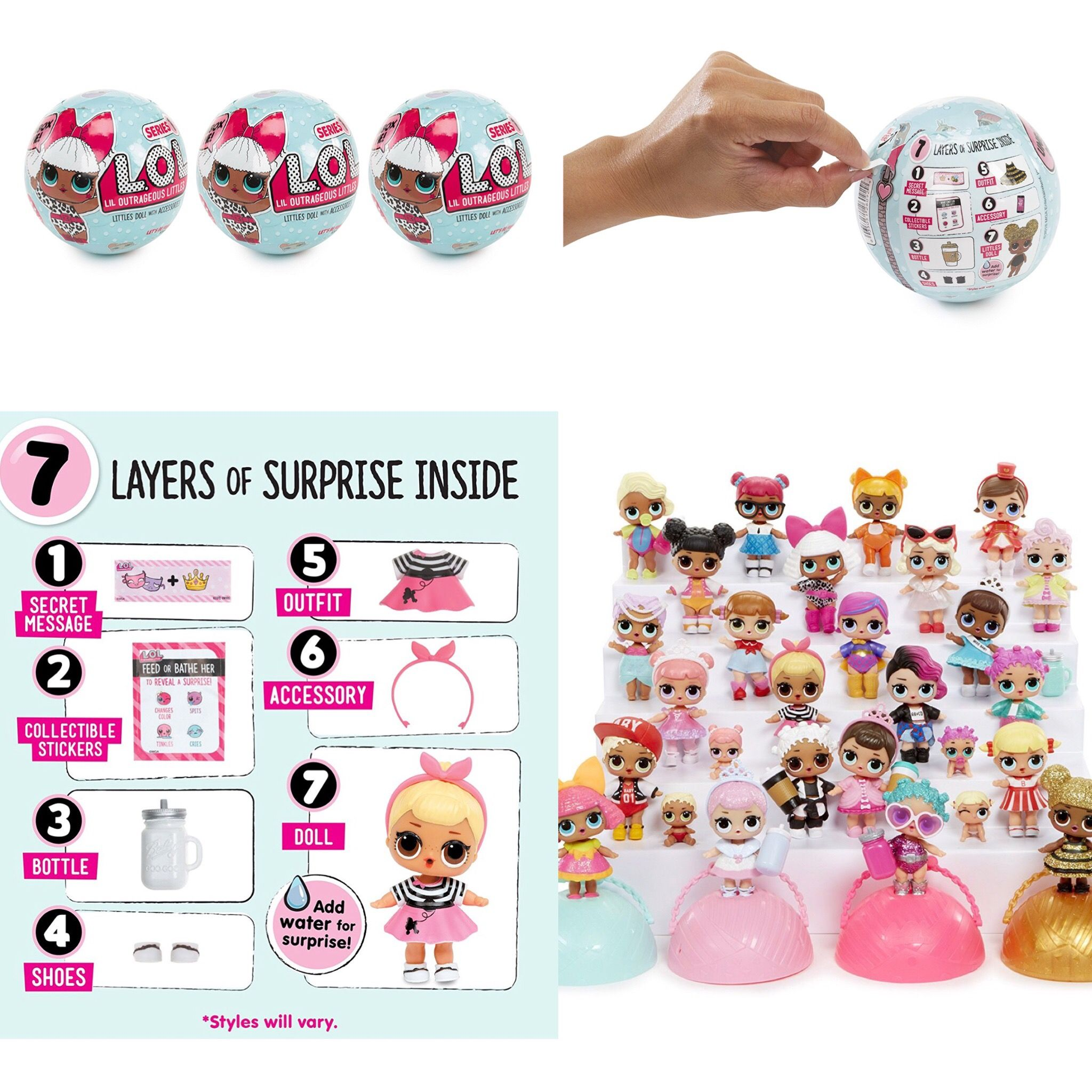 Pin by Kerri Carbone on LoL suprises 7 layers, Dolls, Toys