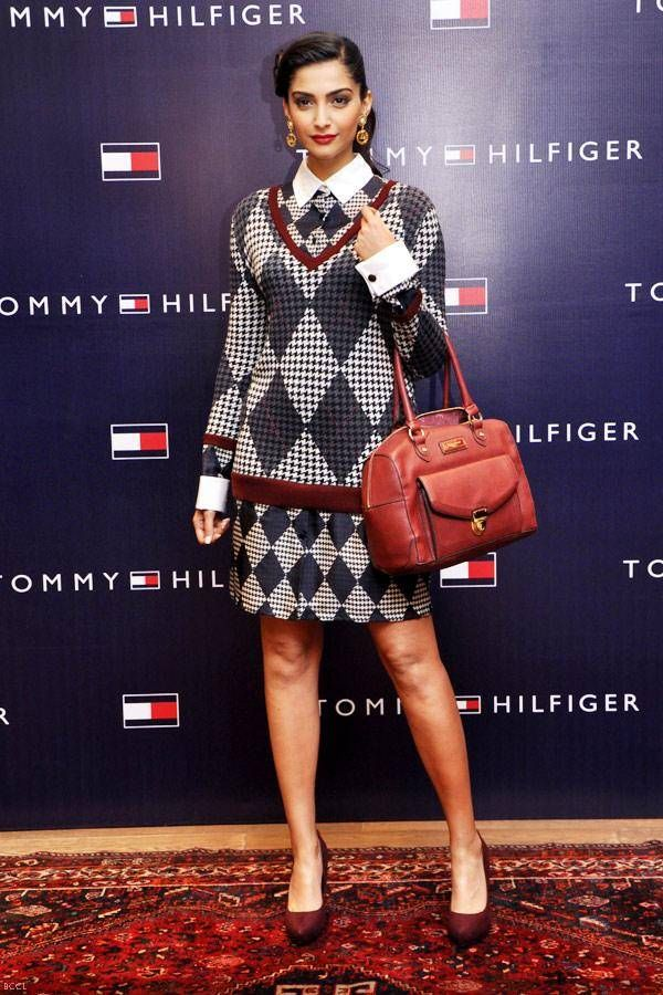 Sonam Kapoor at the launch of Tommy Hilfiger's Fall/Holiday collection, held in Chandigarh.