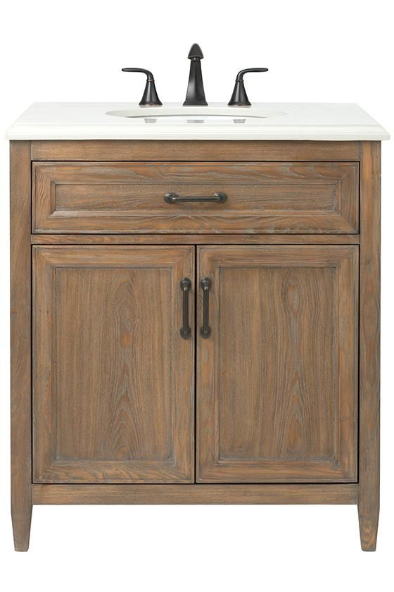 home decorators collection walden 31 in w vanity in driftwood grey rh pinterest com