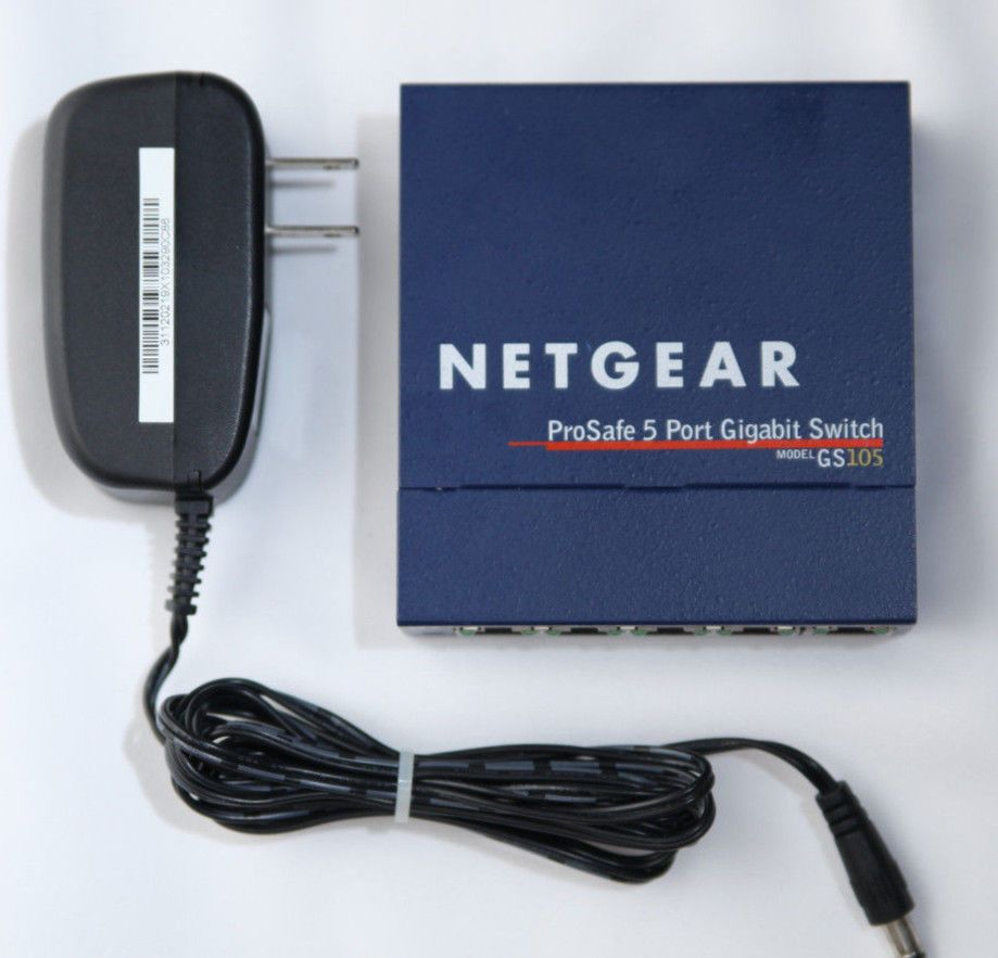 NETGEAR  ProSafe GS105 5 Port External 10/100/1000 Mbps Gigabit Switch unmanaged