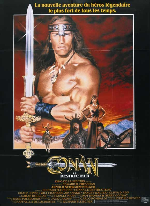 Conan the Destroyer (French) 11x17 Movie Poster (1984) | mml