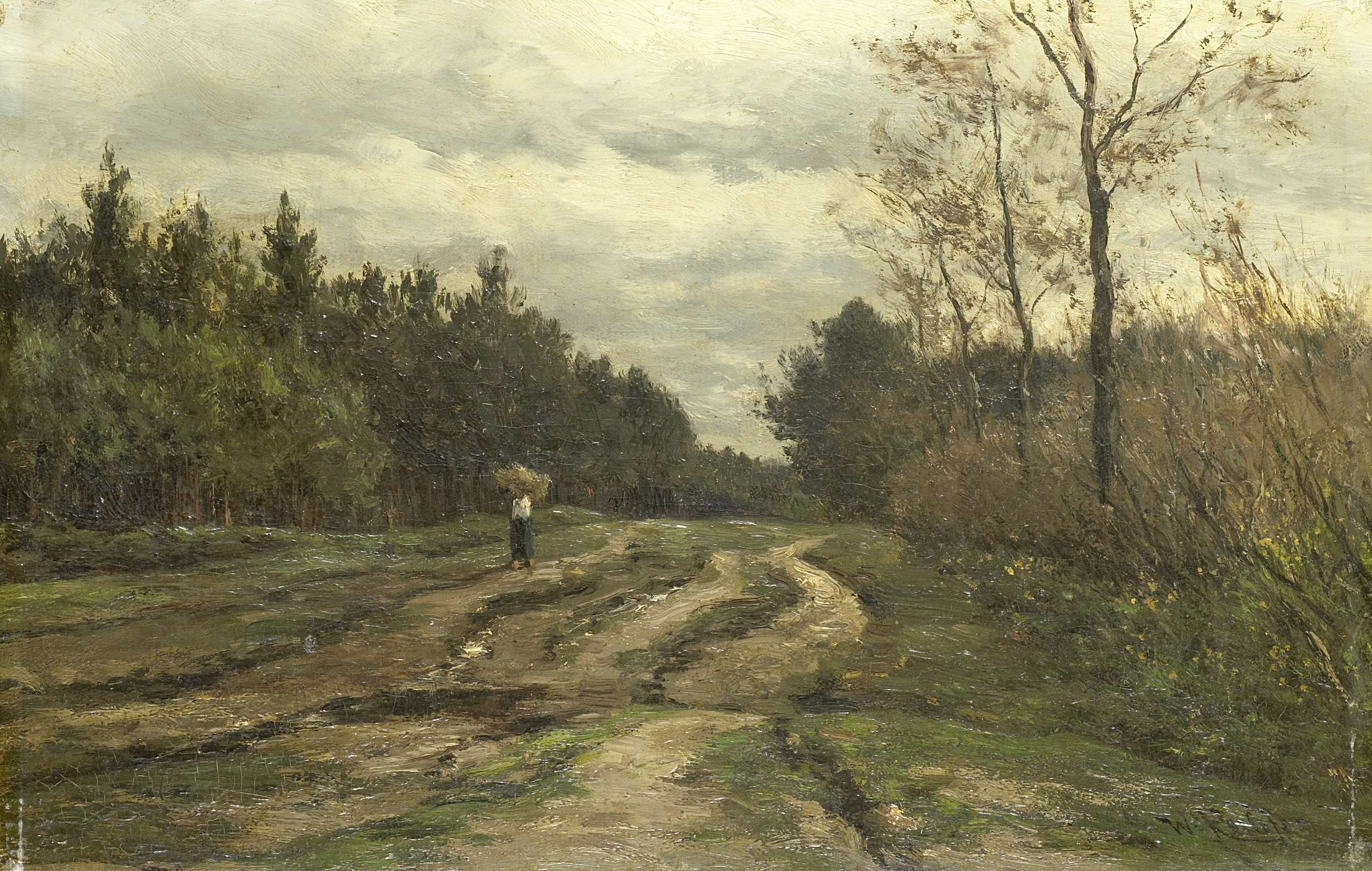 Willem Roelofs I Country Road near