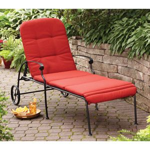 better homes gardens clayton court chaise lounge with wheels red rh pinterest com