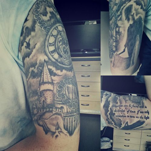 Harry potter tattoo half sleeve this is my harry potter for Harry potter sleeve tattoo
