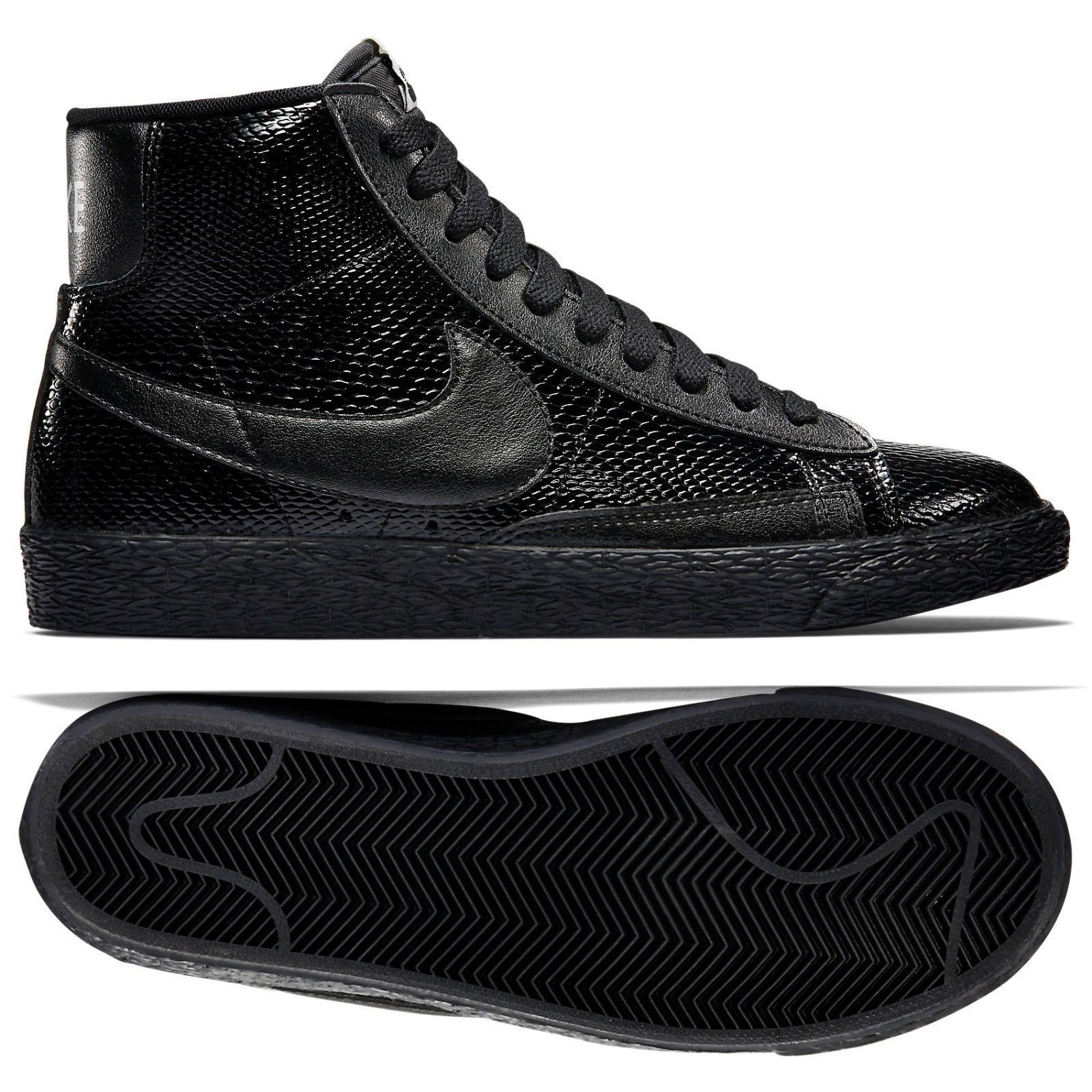 detailed look 22cbd 1e5eb 99.99  Nike W Blazer MID Leather Premium 685225-001 BlackAsh Grey