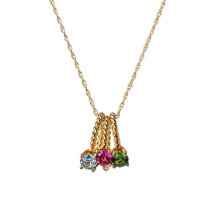 Naomi Gray mini birthstone ring necklace
