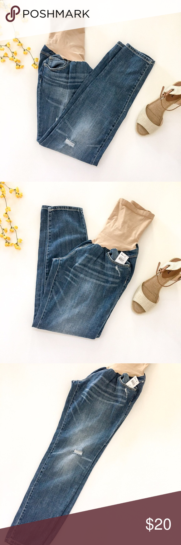 ⚡️FLASH SALE⚡️Distressed Maternity Jeans NWT | Shopping ...