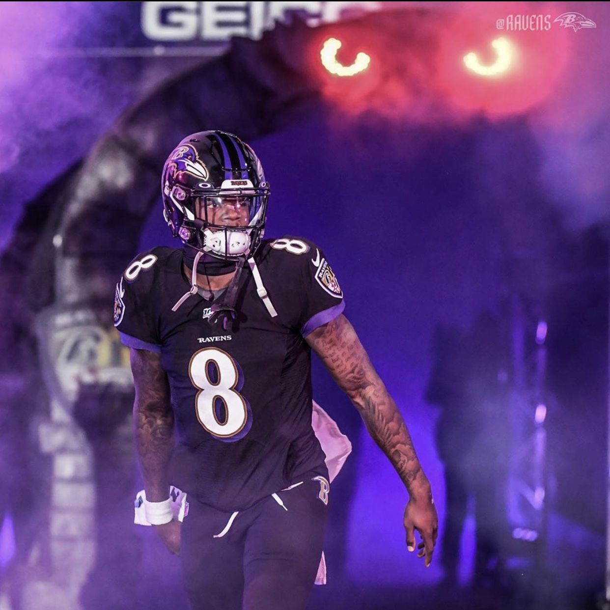Lamar Jackson In 2020 Lamar Jackson Baltimore Ravens Nfl Football Helmets