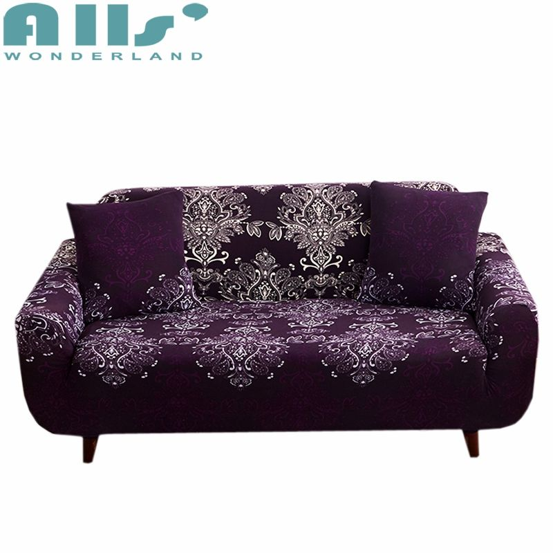 Brilliant Sale Spandex Purple Slipcovers Sofa Cover Elastic Tight Dailytribune Chair Design For Home Dailytribuneorg