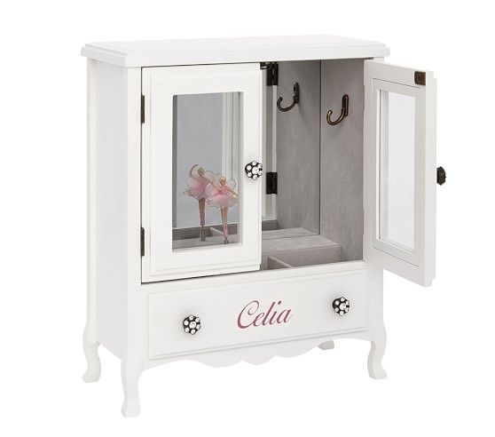 White Mill Valley Armoire Jewelry Box | Kids jewelry box ...