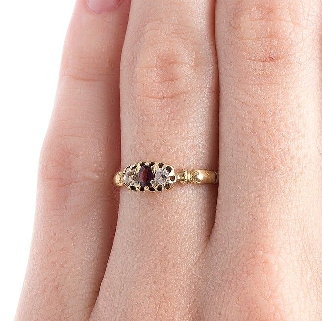 Sweet Victorian Era Three Stone Engagement Ring | Abbotsford from Trumpet & Horn