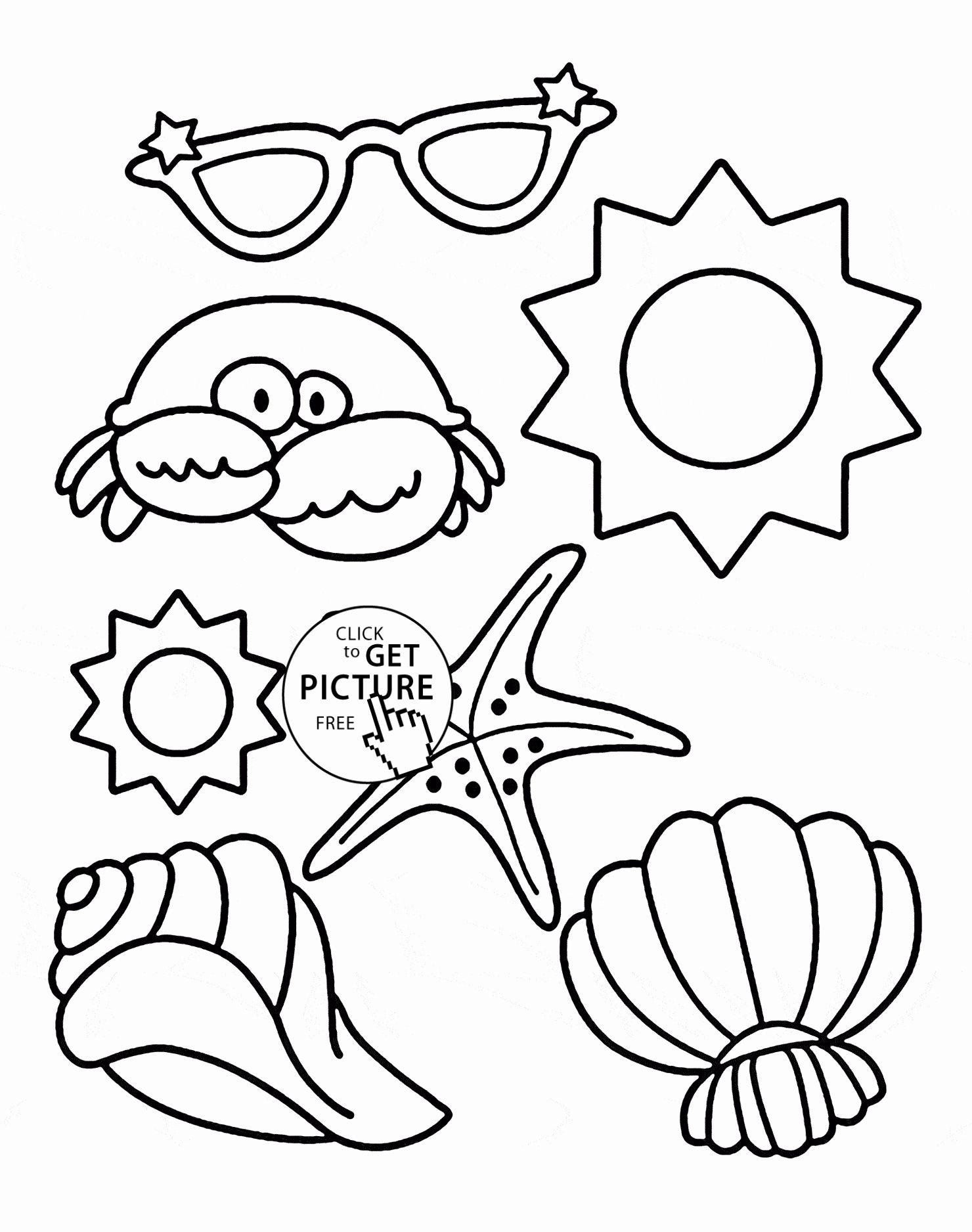 Free Printable Colouring Pages Summer в 2020 г | 1876x1480