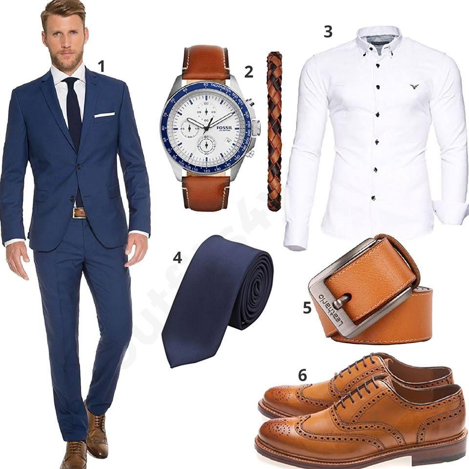 Herren Für Blauem Business Outfit Mit Marzotto Anzugm0529 K1JcT3lF