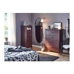 ikea brusali commode 4 tiroirs brun les tiroirs sont faciles ouvrir et fermer et. Black Bedroom Furniture Sets. Home Design Ideas